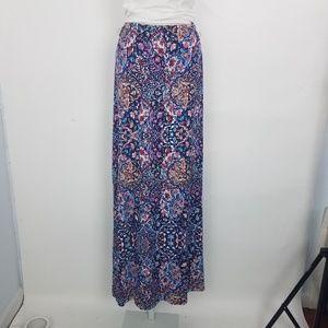 Artisan NY Maxi Skirt Flowy Sz S Blue G8